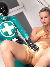 RUBBER CLINIC PUSSY TREATMENT AND PISSING PT 2