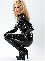 Beautiful girls in latex