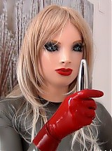 NAUGHTY RUBBER DOLL, TWO LAYERS, FINGER, DILDO, STRIP PT 1