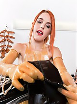 Rubber clinic patient anal training